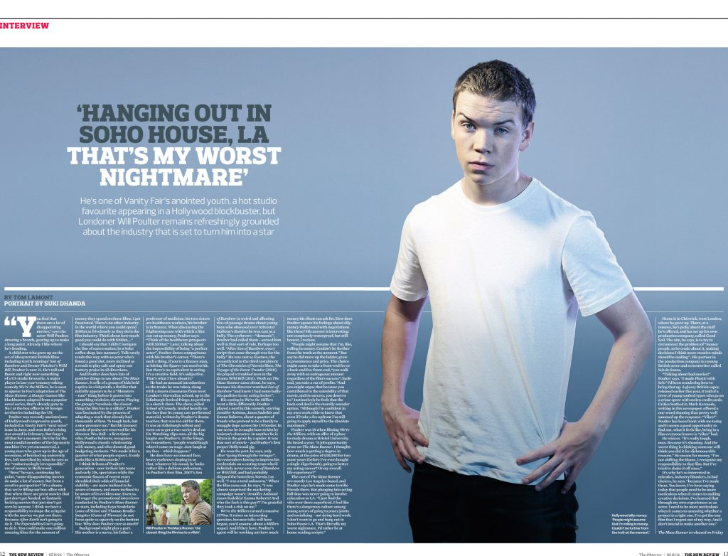 Will Poulter Observer New Review 2014