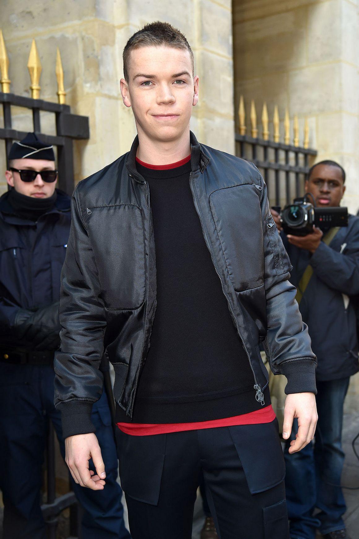 Will Poulter at Paris Fashion Week